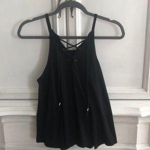 SO Brand: Black Lace Up Tank
